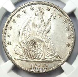 1844 Seated Liberty Half Dollar 50c Ngc Uncirculated Details (ms Unc) Rare