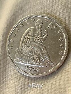 1844-o Assis Liberty Demi-dollar Haut De Gamme Coin Beautiful