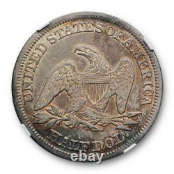 1846 50c Tall Date Assise Liberty Half Dollar Ngc Xf 45 Extra Fine To Au Tone