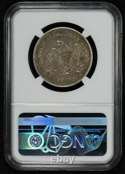 1846 Tall Date 50c Assis Liberty Demi Dollar, Pq! Haut Grade Ngc Au 53 # S818