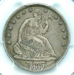 1847 Liberty Seated Half Dollar, Pcgs Xf40
