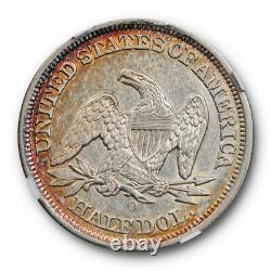 1847 O 50c Assis Liberté Demi-dollar Ngc Au 53 À Propos Ongecirculeerd Pret Noir Et Blanc