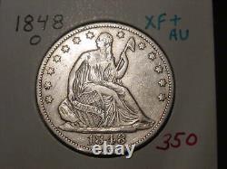 1848-o Seated Liberty Half Dollar Xf + Au Nice! Transport Combiné