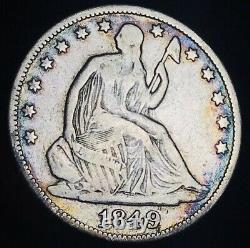 1849 O Seated Liberty Half Dollar 50c Non Classé Bonne Date Argent Us Pièce Cc7005