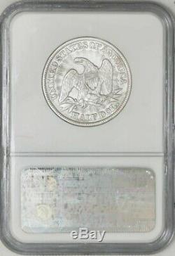1853 Assis Liberté Demi-50c Flèches & Rays République Ss Ngc 941227-15