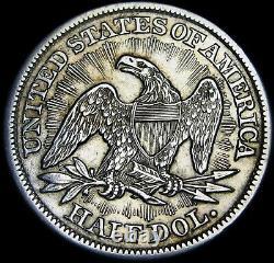 1853 Assis Liberté Demi-silver Dollar Coin - Coin Type Impressionnante - # F648