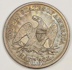1853 Demi De Liberté Assis. Flèches. Belle Couleur. Xf-ua. 151938