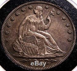 1853 O Assis Liberté Demi-dollar Flèches Et Rays Mme Rare Date De Clé