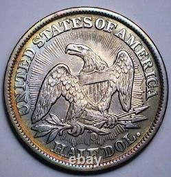 1853 O Au Arrow & Rays Seated Liberty Demi Dollar Key Date 287
