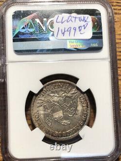 1853 Saisie Liberty Demi-dollar Flèches Et Rayons Ngc Ms 61