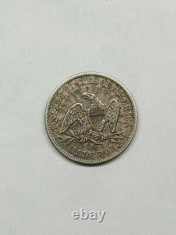 1853 Saisie Liberty Half Dollar Données Au Détails Rays Et Flèches