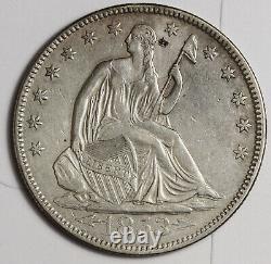 1853 Seated Liberty Demi. Avec Flèches. Détail Xf-au. 161629