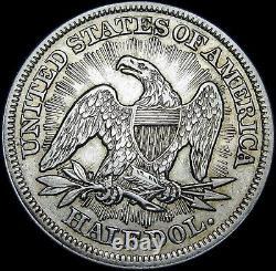 1853 Seated Liberty Demi-dollar Argent - Pièce De Type Stupéfiante - #n718