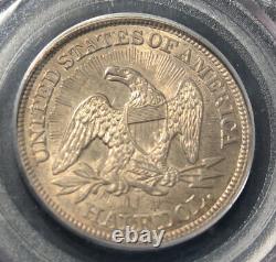 1853 Seated Liberty Half Dollar Arrows & Rays Pcgs Au 53