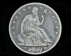 1853 Seated Liberty Half Dollar Flèches & Rayons Philadelphia Monnaie Argent 50c Pièce