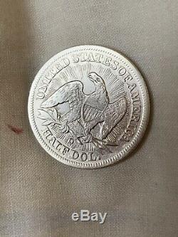 1853-o Assis Liberté Demi-dollar Avec Des Rayons Et Des Flèches