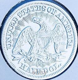 1853-o Brillante Date Clé Non Circulée! U.s. Seated Liberty Demi-dollar. E4