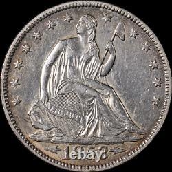 1853-p Assis Demi Dollar'arrows Et Rays De L'ua / Bu Détails De Nice Eye Appel