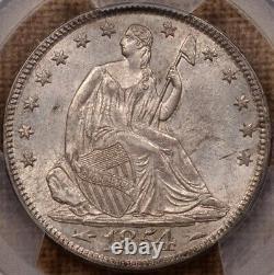1854 Flèches Liberty Assis Moitié, Pcgs Ms62, Super Choix Davidkahnrarecoins