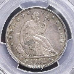 1854 Liberté Seated Demi-dollar Avec Des Flèches Pcgs Cac Xf45 (# 31478)