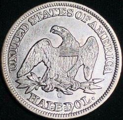 1854 O Assis Liberté Demi-dollar Avec Des Flèches Scarce Old Coin