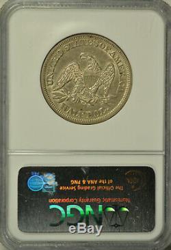 1854 O Dollar Assis Demi, Flèches, Ngc Au55
