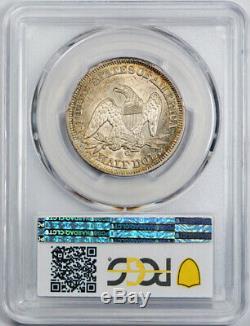 1854 O Flèches 50c En Position Assise Liberté Demi-dollar Pcgs Ms 62 Uncirculated Noir Et Blanc