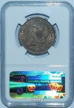 1854 O Ngc Au55 Seated Liberty Demi-dollar Avec Flèches