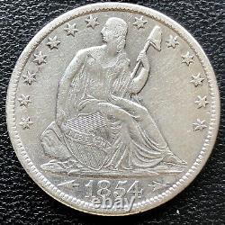 1854 O Seated Liberty Demi-dollar 50c High Grade Ua Det. #19596