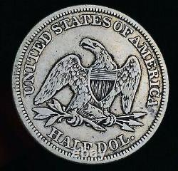 1854 Seated Liberty Half Dollar 50c Flèches Choix Bon 90% Argent Us Pièce Cc7789