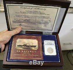 1854-o Flèches Assis Liberté Demi-dollar Ss République Mbac Et Odyssey Coa Coin