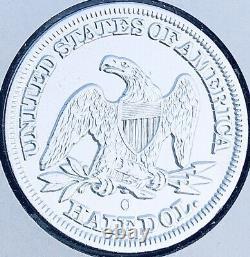 1854-o Flèches Brillante Non Circulée 50c U. S. Sièges Liberty Half Dollar. A1