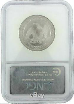 1855/54 Ss République Shipwreck 50c Arrows Seated Liberté Ngc Half Dollar Coin