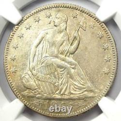 1855 Arrows Seated Liberty Half Dollar 50c Pièce Certifiée Ngc Au Détails