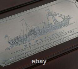 1855-o 50c Seated Liberty Ss Republic Ngc Shipwreck Effect Free Shipping États-unis