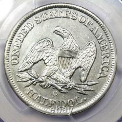 1855-o Arrows Seated Liberty Demi-dollar 50c Pcgs Au Détails Rare Date Pièce