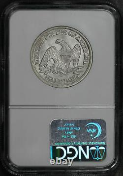 1855-o Assis Demi-dollar Flèches Ss République Ngc Naufrage Dans Le Livre D'affichage