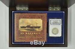 1855-o Assis Liberté Demi-dollar Ngc Ss République Shipwreck / W Présentation Box