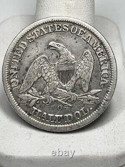 1855-o New Orleans Mint Silver Assis Demi-dollar Avec Des Flèches
