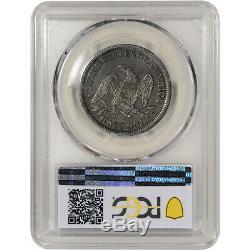 1855-s Us Assis Liberty Silver Dollar Demi-50c Flèches Pcgs Vf30