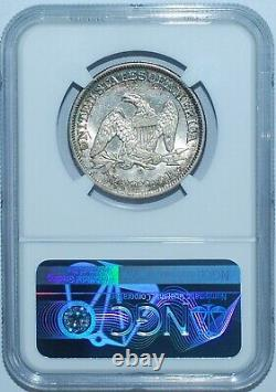 1856 O Ngc Au58 Fs-301 Rpd Repunched Date Sièged Liberty Half Dollar