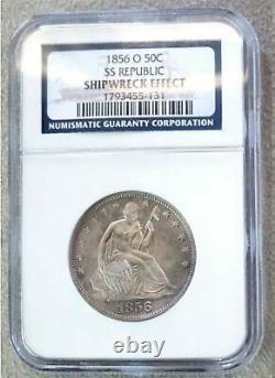 1856 O Silver S. S. Republic Assis Liberty 50 ¢ Demi-dollar Ngc Box Set