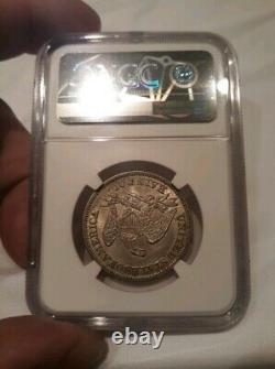 1857 50c Seated Liberty Demi Dollar Ngc Au-58 Tough! Pop 37/77@ Mbac