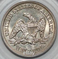 1857 Dollar Seated Demi-liberté Pcgs Ms62