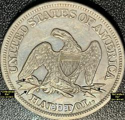 1857 Liberté Assise Demi Silver Dollar Mpd (wb-102) R4 (très Rare)