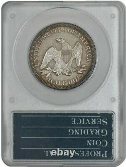 1858 Assis Liberté Demi-50c Pr63 Premiè Rattler Titulaire Pcgs Cac 942140-6