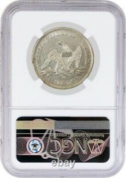 1858 O 50c Seated Liberty Demi-dollar Argent Ngc Au Détails Nettoyé Pièce