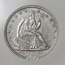 1858 O Seated Liberty 50c Shipwreck Ss Republic Coin Avec Deluxe Box DVD & Coa