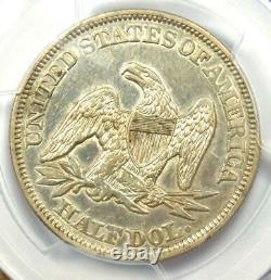 1858 Seated Liberty Half Dollar 50c Pièce Certifiée Pcgs Au Détails