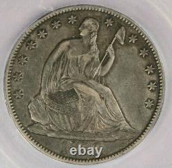 1858-o Liberté Assise Demi-dollar Icg Ef40 Xf40